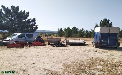 GNR recupera material furtado em Coruche e deteve suspeito
