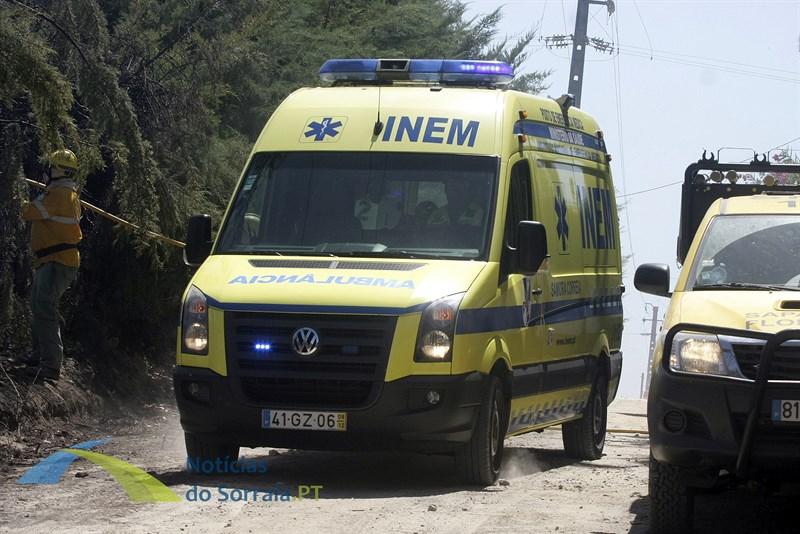 1 Bombeiro ferido no incêndio dos Foros de Almada
