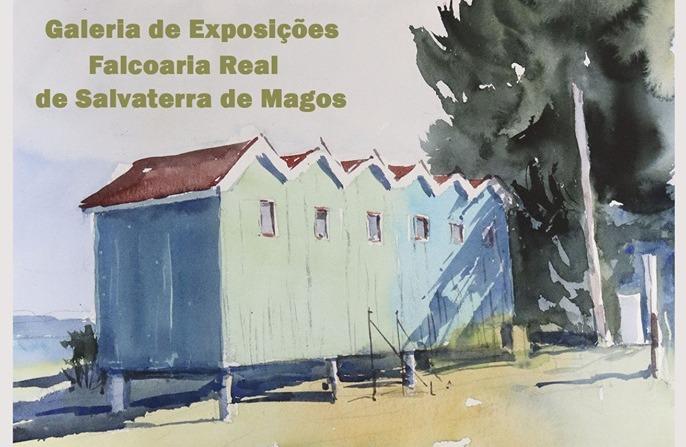 Pinturas de Salvaterra em exposição na Falcoaria Real