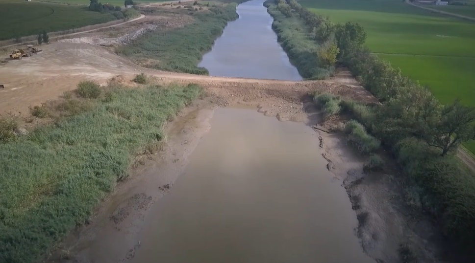 Rio Sorraia com curso interrompido entre Samora Correia e Porto Alto até final de Agosto