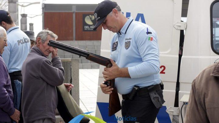 PSP recolhe 100 armas nos concelhos de Salvaterra, Benavente e Coruche