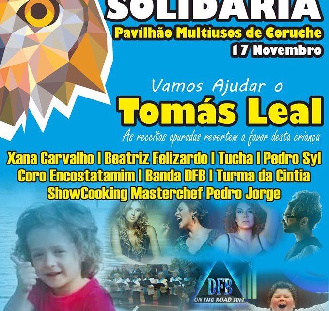 Espectáculo solidário para com Tomás Leal a 17 de Novembro em Coruche