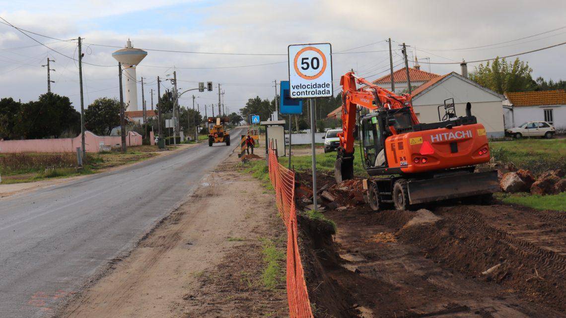 Grandes obras de beneficiação no troço da Estrada Nacional 114-3 em Salvaterra