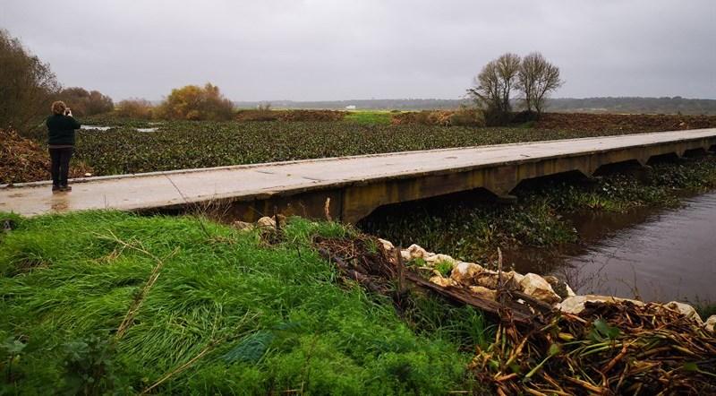Estradas cortadas com as cheias no rio Sorraia