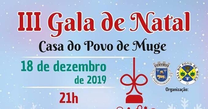 Gala de Natal em Muge dia 18 de Dezembro