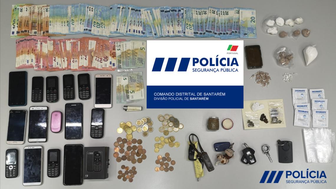 PSP de Santarém detém 11 pessoas e termina com rede de tráfico de droga