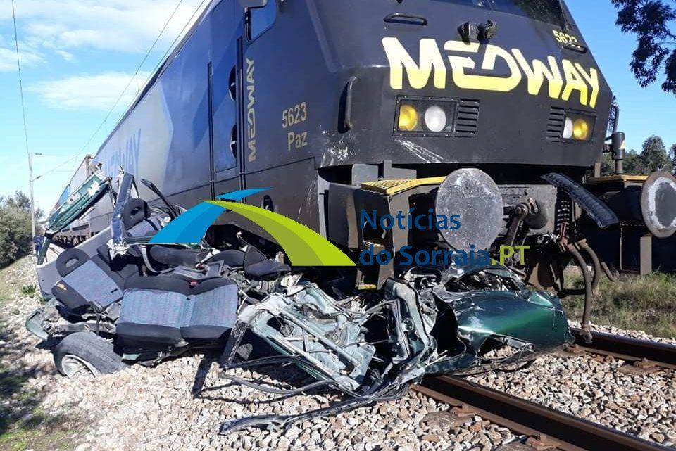 ÚLTIMA HORA – Um morto em abalrroamento de jipe por comboio na Glória