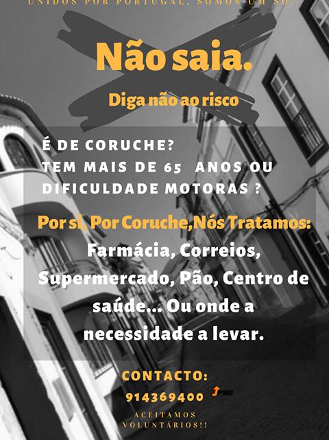 PSD de Coruche lança campanha de voluntariado aos mais idosos