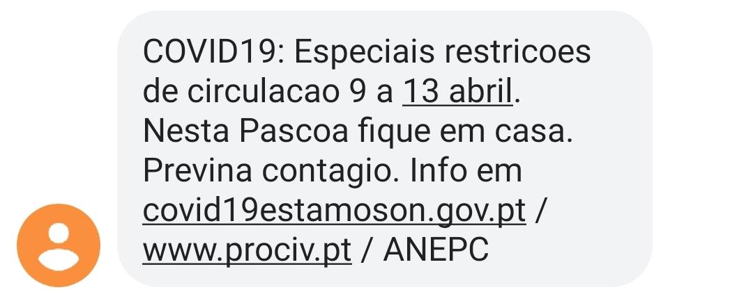 Protecção Civil envia mensagem de alerta aos cidadãos