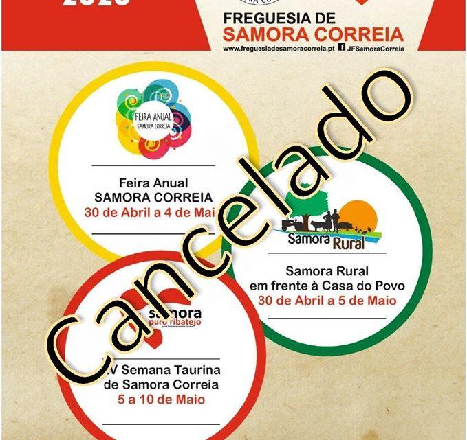 Samora Correia cancela todos os eventos até 30 de Junho