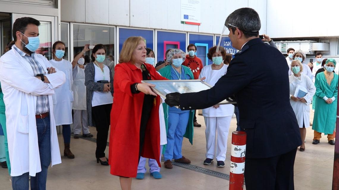 PSP, GNR, Bombeiros e SEF homenagearam profissionais de saúde do Hospital Distrital de Santarém (Com Vídeo)