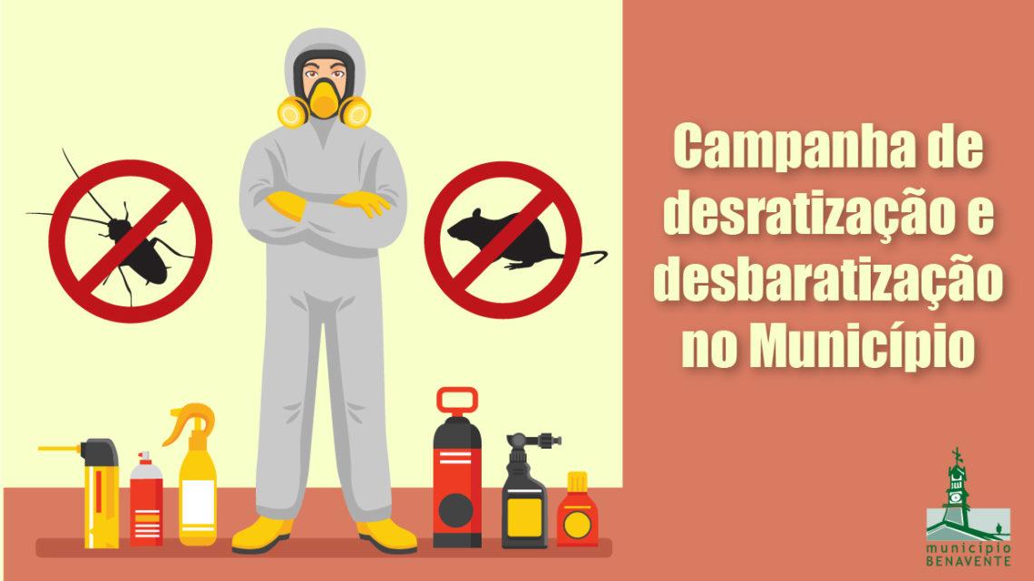 Benavente inicia campanha de desbaratização e desratização