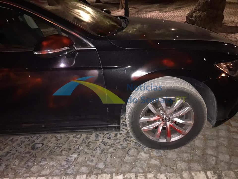 Carro de GNR vandalizado em Salvaterra de Magos (Com Fotos) 1626639949125